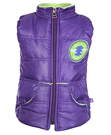 Little Kangaroos Sleeveless Quilted Jacket - Purple