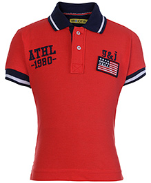 Gini And Jony Half Sleeve Polo T-Shirt - Embroidery