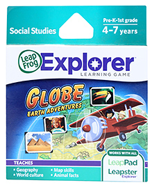 Leap Frog Explorer Learning Game - Globe Earth Adventure