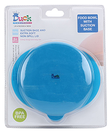 Duck Food Bowl With Suction Base - Blue