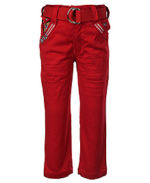 Noddy Trousers With Belt - Red