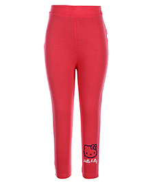 Hello Kitty Solid Color Legging - Coral Pink
