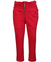 Little Kangaroos Gathered Waist Trouser - Red