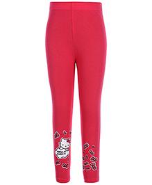 Hello Kitty Legging Bow Print - Pink