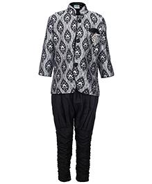 Babyhug Full Sleeves Kurta And Jodhpuri Pajama - Black