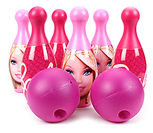 Funfactory Barbie Bowling Set Pink - 6 Bottles