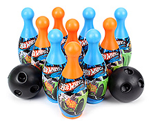 Funfactory Hot Wheels Bowling Set - 10 Bottles