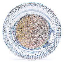 Karmallys Silver Dotted Paper Plate - Set of 10