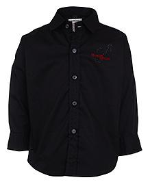 Ruff Full Sleeve Shirt Collar Neck - Black