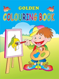 Indian Book Depot map house Golden Coloring Book 1 - English