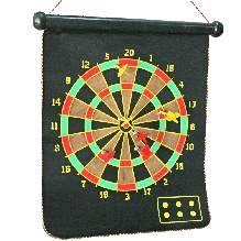 Adraxx Foldable Magnetic Dart Board For Indoor Entertainment