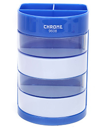 Chrome Pen Stand - Sky Blue