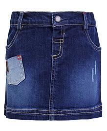 Beebay Denim Short Skirt - Front Patch Pocket