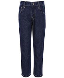 Palm Tree Denim Jeans - Blue