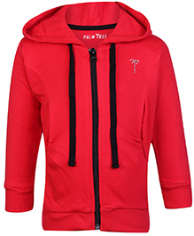 Palm Tree Hooded Sweatshirt - Red