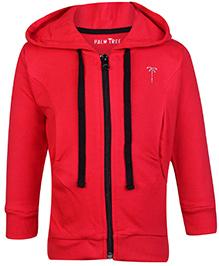 Palm Tree Hooded Sweatshirt - Red