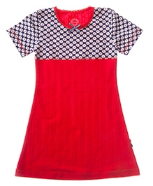 Claesens Short Sleeves Night Dress Red - Daisy Prints