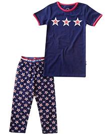 Claesens Short Sleeves Night Suit - Star Print