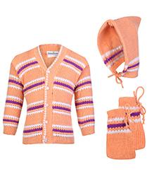 Babyhug Front Open Winter Wear Set - Pack Of 3