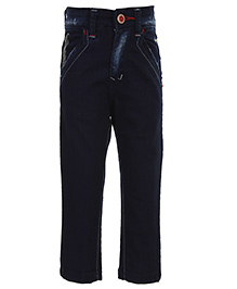 Ruff Designer Trousers Raw Navy Blue