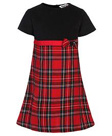 Beebay Red Check Dress - Short Sleeves