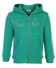 Beebay Full Sleeve Sweatshirt Green - Crystal Work