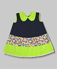 Lime & Navy Friendly Faces Dress