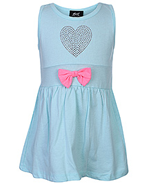 Huggs N Kisses Frock Sleeveless - Studded Heart Shaped Design