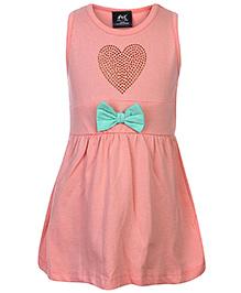Huggs N Kisses Frock Sleeveless - Studded Heart Shaped Design