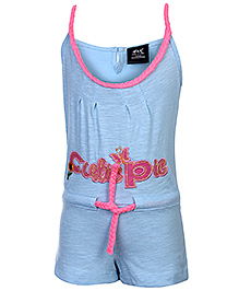 Huggs N Kisses Singlet Jumpsuit - Light Blue