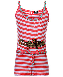 Huggs N Kisses Singlet Jumpsuit - Stripe Prints