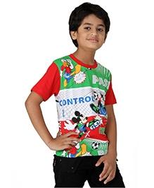 Disney Half Sleeves T-Shirt - Cartoon Character Print