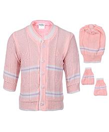 Babyhug Winter Wear Set Peach - Pack Of 3