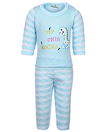 Babyhug Weave Sweatshirt with Pants - Stripes