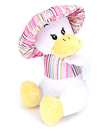 Play N Pets Soft Toy Duck - White And Pink