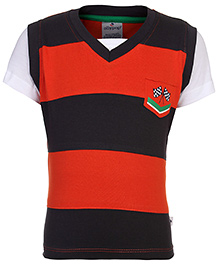 Ollypop T-Shirt Half Sleeves - Cross Flag Patch