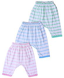 Zero Diaper Leggings Stripe Prints - Set Of 3
