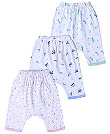 Zero Printed Diaper Leggings - Set Of 3