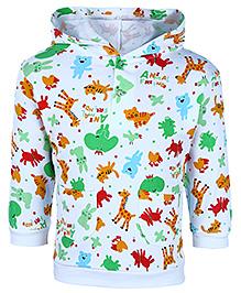 Cucumber Hooded Sweatshirt Full Sleeves - Animal Friends Print