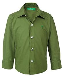 Palm Tree Full Sleeves Shirt - Green