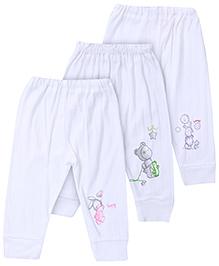Pink Rabbit Leggings - Set Of 3