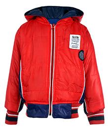 Little Kangaroos Full Sleeve Hooded Jacket - Red