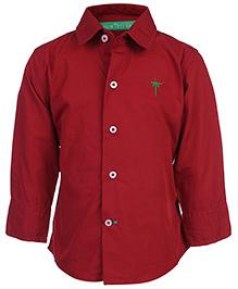 Palm Tree Full Sleeves Shirt - Red