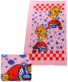 Sassoon Squirrel Print Towel - Pink