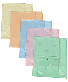 Tinycare Plastic Diaper Changing Sheets Plain Small - Set Of 5