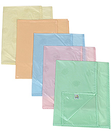 Tinycare Plastic Diaper Changing Sheets Plain Medium - Set Of 5