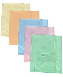 Tinycare Plastic Diaper Changing Sheets Plain Large - Set Of 5