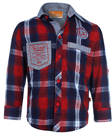 Little Kangaroos Full Sleeve Shirt - Checks