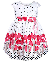 Babyhug Short Sleeves Frock - 12 To 18 Months