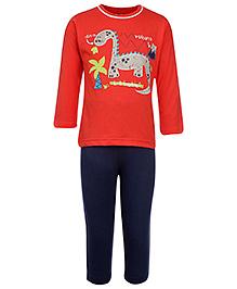 Teddy Full Sleeves T-Shirt And Legging - Dino Print